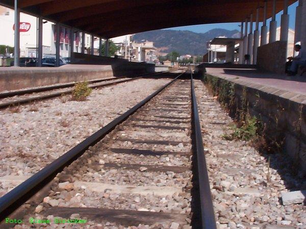 Richtungsgleis Palma, Blick Richtung Palma