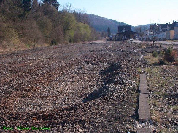 Hierl lagen überall Gleise!