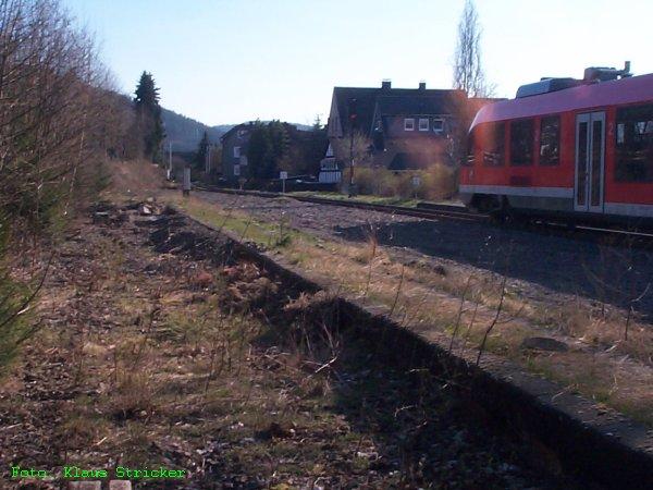Nochmal der Rest des Schüttbahnsteigs für das dritte Gleis
