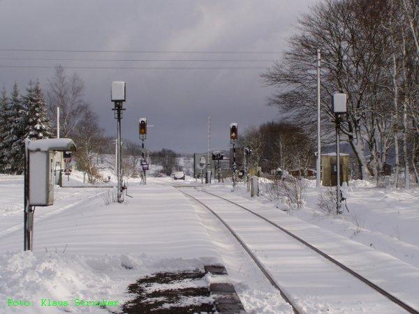 Blick über Gleis 1 Richtung Erndtebrück