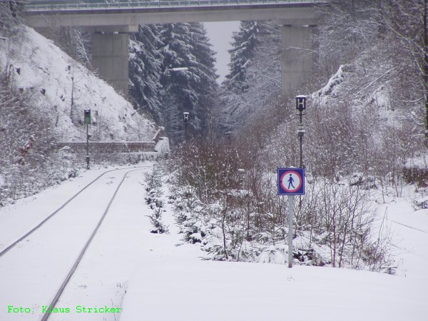Von Gleis 2 aus der Blick in Richtung Vormwald