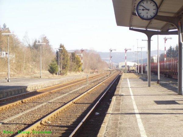Blick von Gleis 2 nach Norden