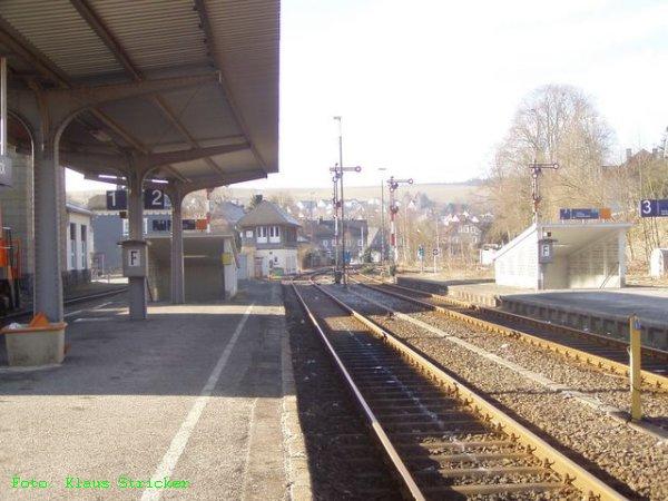 ... und der Blick nach Süden von Gleis 2