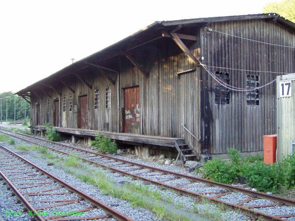 Der alte Güterschuppen.