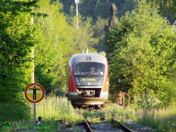 ... und ab geht es auf die andere Elbseite zum Bahnhof Bad Schandau.