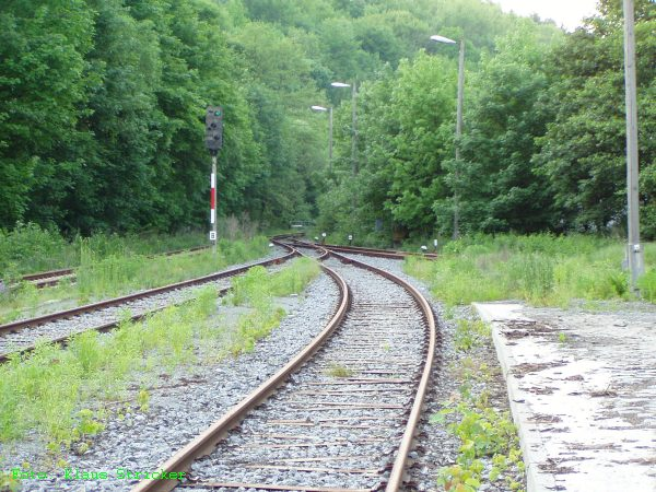 Der Blick auf das nördliche Ende des Bahnhofs.