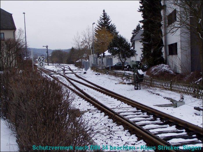 Blick in den Bahnhof aus Richtung Norden