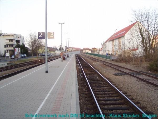 Blick auf Gleis 2 und 3