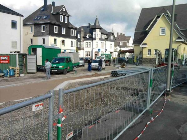 Arbeit am neuen Busbahnhof
