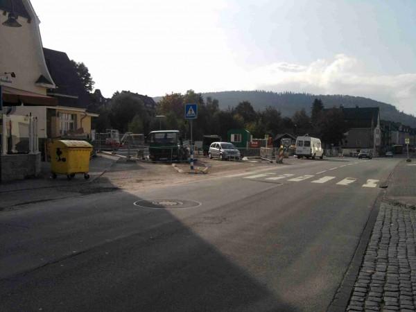 Arbeiten am neuen Busbahnhof