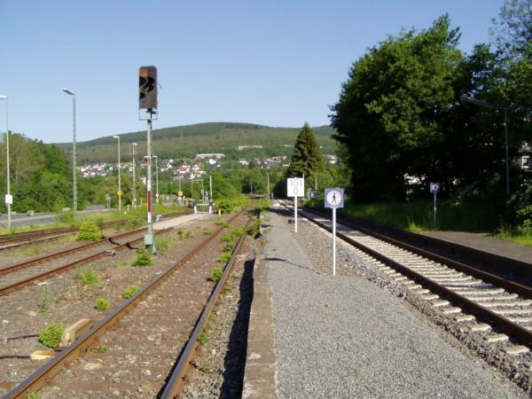 Auch der Schüttbahnsteig scheint noch in Benutzung zu sein.