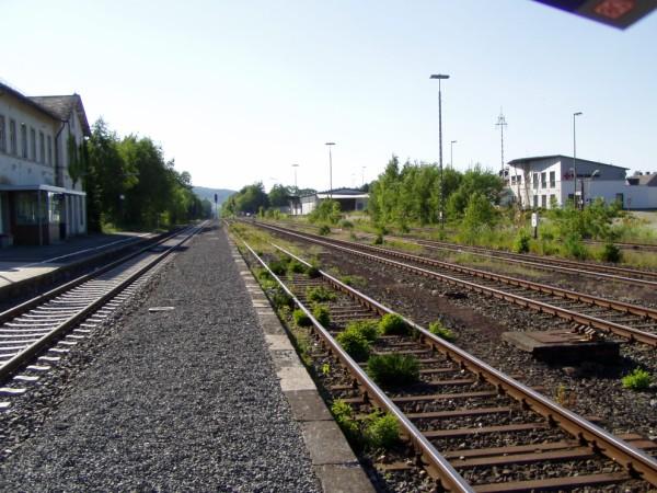 Schüttbahnsteig, Blick Richtung Betzdorf