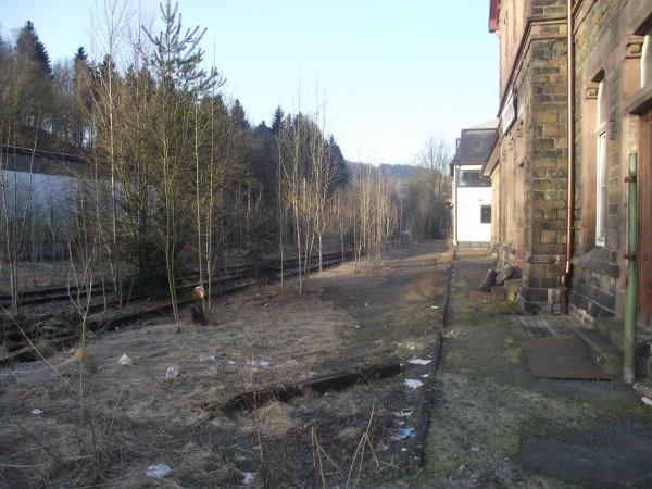 Blick auf den ehemaligen Hausbahnsteig