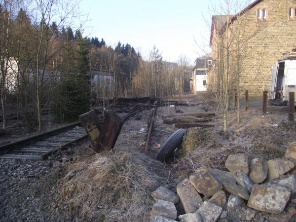 Blick auf das Gleisfeld