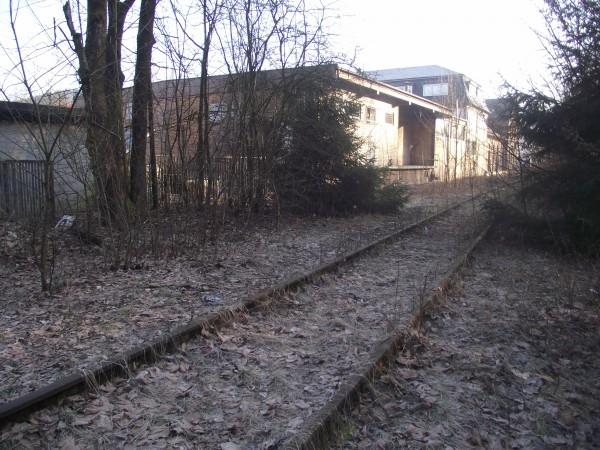 Blick von der Brücke in Richtung Bahnhofsgelände