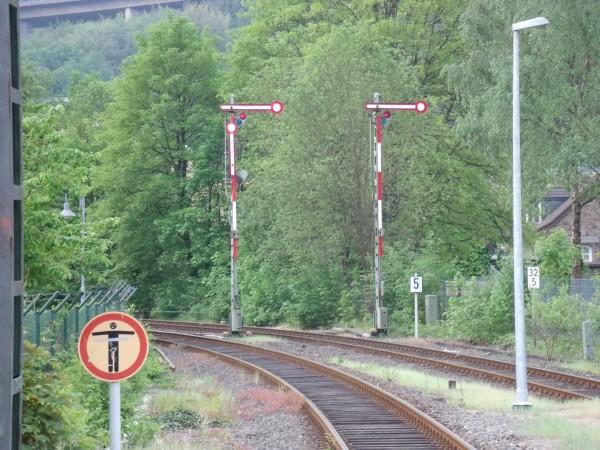 Die Ausfahrtssignale Richtung Dieringhausen